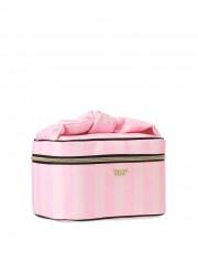 Victorias Secret pruhovaný kufřík a kosmetická taštička