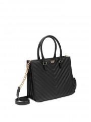 Černá luxusní kabelka s popruhem
