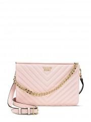 Růžová luxusní crossbody kabelka