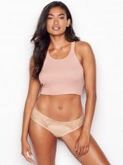 Victorias Secret bavlněné kalhotky s krajkou