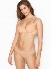 Victorias Secret bavlněné cheeky s krajkou po obvodu