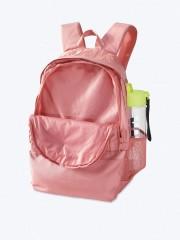 VS PINK růžový školní batoh malá přední kapsa