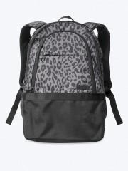 VS PINK pohodlný školní batoh s leopardním vzorem