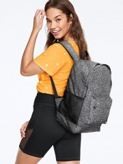 VS PINK šedý batoh Classic Backpack