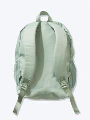 Zelený batoh VS PINK s polstrovanými popruhy