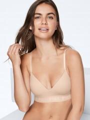 Tělová podprsenka bez kostic s jemnou gumou pod prsy s nápisy PINK