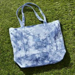 VS PINK modrá plátěná taška přes rameno