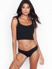 Victorias Secret pohodlná bezešvá černá tanga