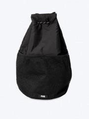 VS PINK černý pohodlný batůžek