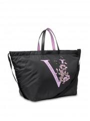 Victoria's Secret černá taška Floral Weekender Tote č.3