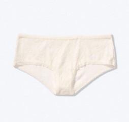 Bílé krajkové kalhotky PINK