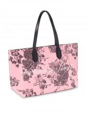 Módní taška s květinovým potiskem VS