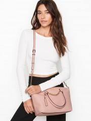 Luxusní růžová kabelka/crossbody