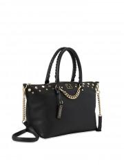 Victorias Secret luxusní černá kabelka se zlatými detaily