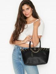 Luxusní černá kabelka do ruky i přes rameno