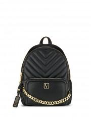 Luxusní černý batůžek se zlatými detaily