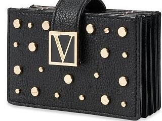 Victorias Secret černé pouzdro na karty a doklady se zlatými detaily