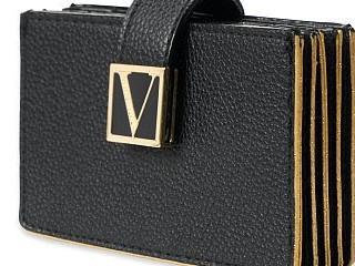 Victorias Secret černé pouzdro na karty a doklady