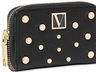 Victorias Secret malá černá peněženka se zlatými detaily