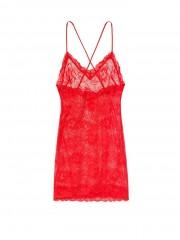 Victorias Secret červená noční košilka krajková
