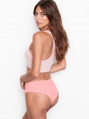 Růžové bezešvé cheeky kalhotky no-show