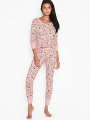 Victorias Secret růžové pyžamo s potiskem