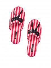 Victorias Secret pruhované domácí pantofle