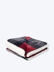 VS velká hřejivá deka červená kostkovaná