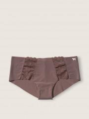 VS PINK hnědé kalhotky s krajkovými detaily