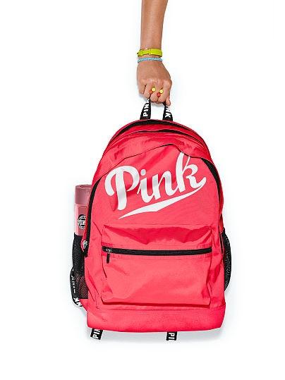 Zářivě růžový batoh Victoria s Secret PINK · Růžový batoh s kapsami (lahev  není součástí balení) d3e25e0287