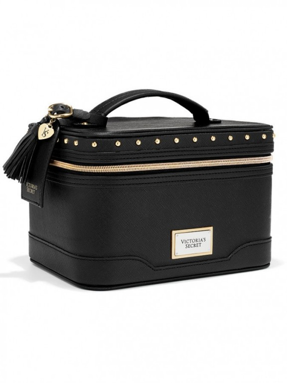 Pevný kosmetický kufřík Victoria's Secret Hard Train Case černý