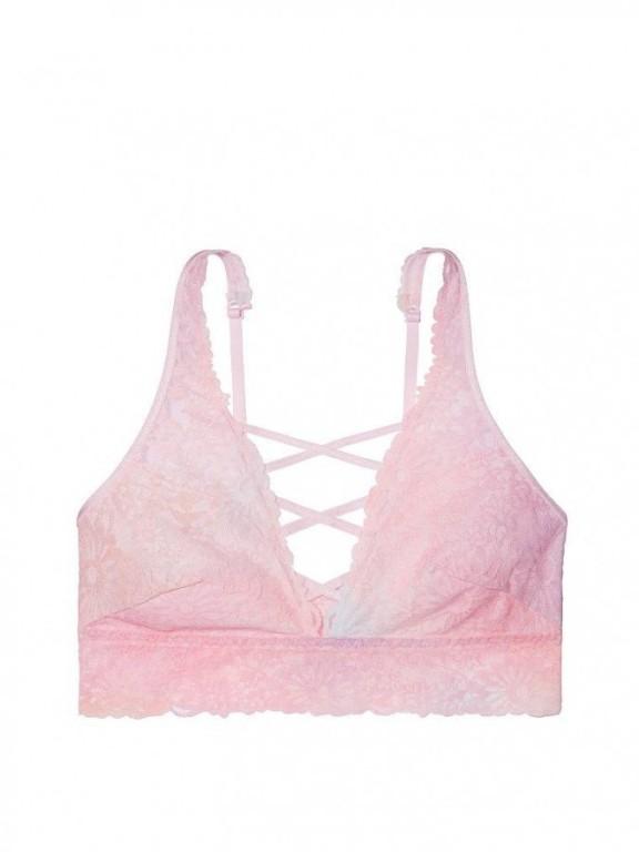 Sexy pastelová podprsenka Unlined Wildflower Lace Plunge Bralette