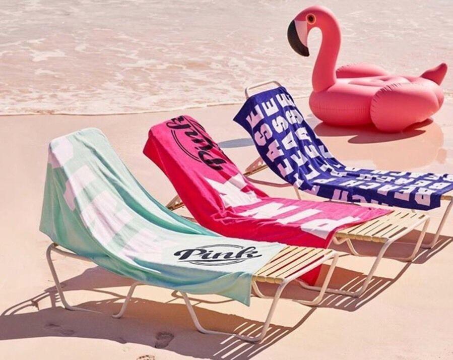 Obrovská osuška pro dva Victoria's Secret Boyfriend Towel světle zelená