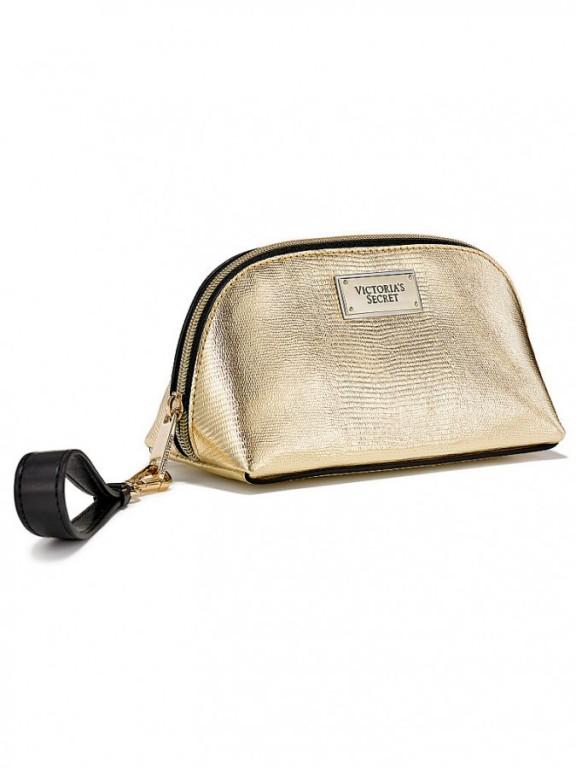 Malá kosmetická taška Victoria's Secret Small Beauty Bag zlatá