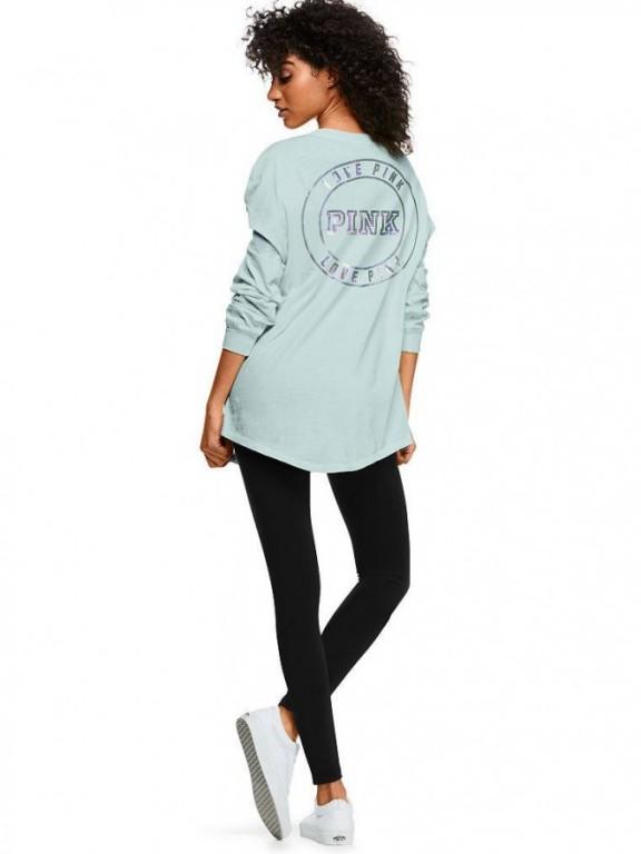 Oversized tričko Campus Long Sleeve Henley Tee