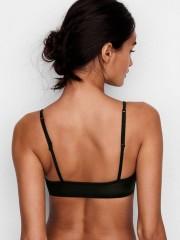 Černá elastická podprsenka s krajkou