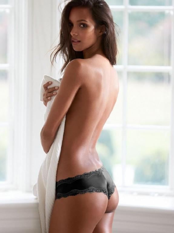 Luxusní brazilské kalhotky Lace-Trim Cheeky Panty černé