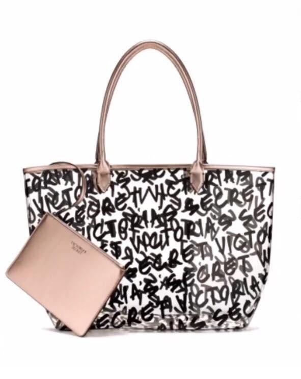 Victoria's Secret taška Graffiti Tote s psaníčkem