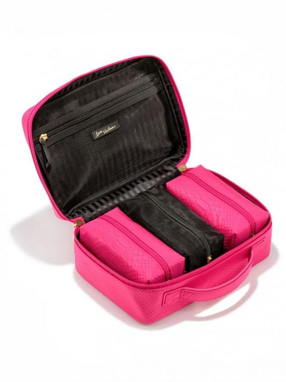 Set čtyř kosmetických taštiček Jetsetter Travel Case růžový