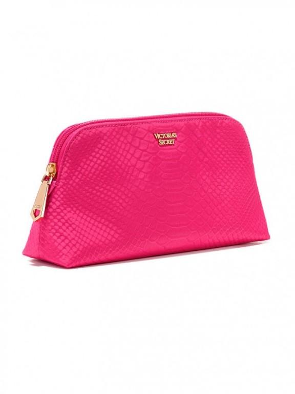 Victoria's Secret kosmetická taštička Python Beauty Bag růžová