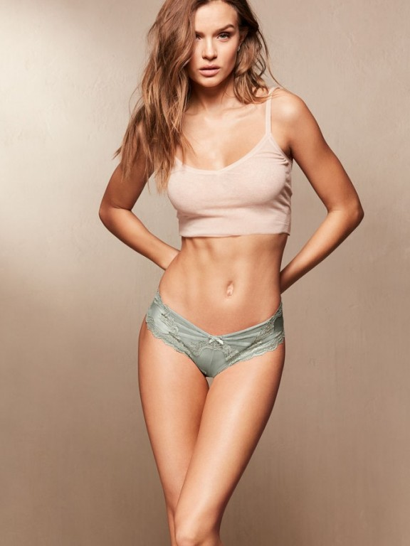 Luxusní sexy brazilské kalhotky Lace & Mesh Cheeky Panty
