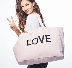 Victorias Secret pevná taška růžová