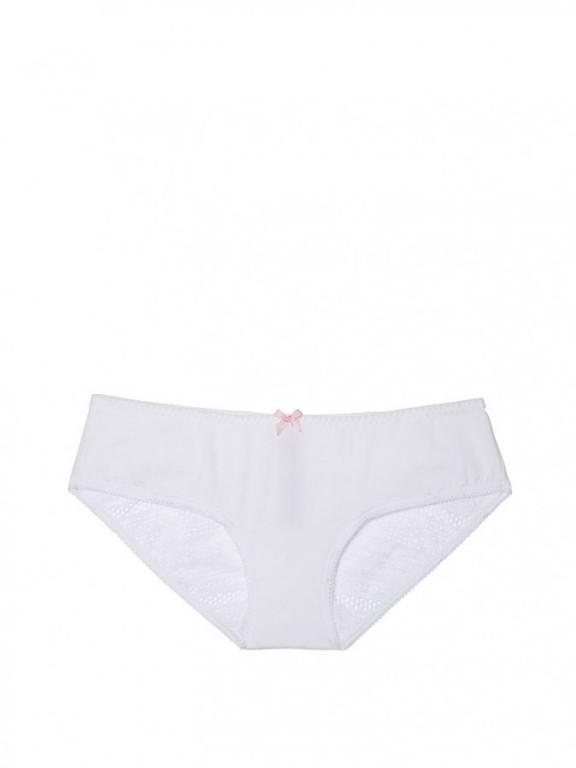 Pohodlné kalhotky Heart Lace Ruched-Back Hiphugger Panty