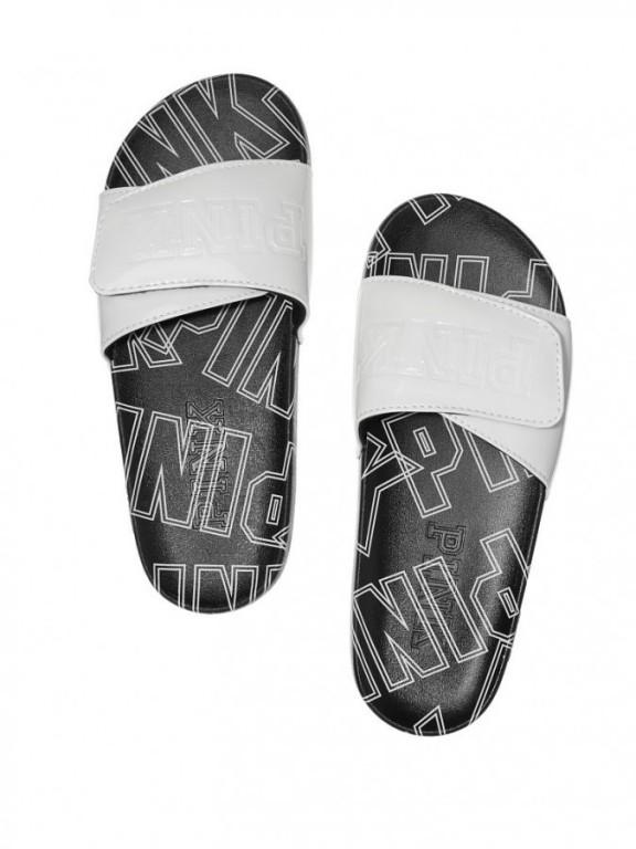 Pantofle Victoria's Secret PINK Crossover Comfort Slide bílé