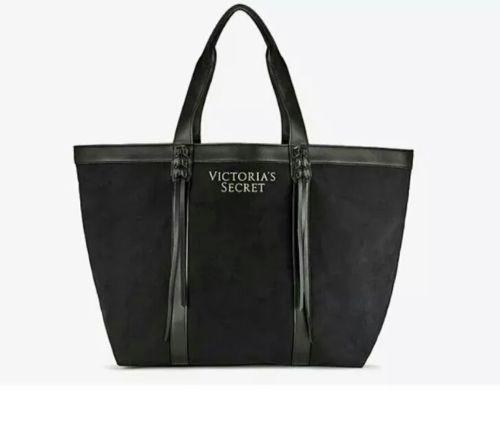 Plátěná taška Victoria's Secret Fringe Tote černá