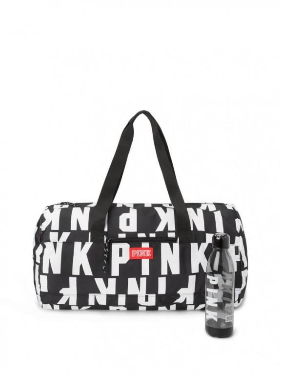 Sportovní taška PINK + lahev Duffle & Water Bottle