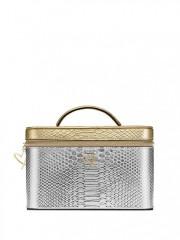 Luxusní kosmetický kufřík stříbrnozlatý
