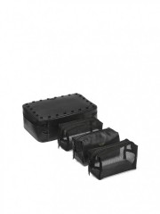 Černý kosmetický kufřík a 3 malé taštičky