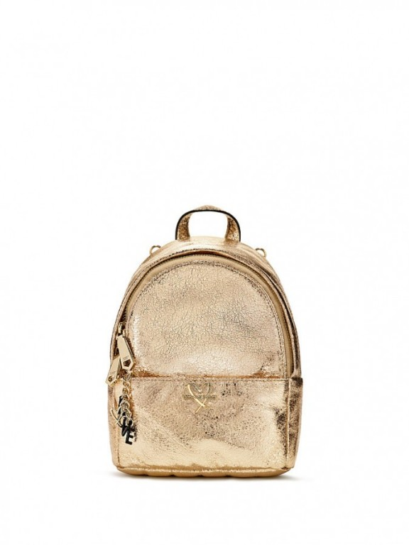 Luxusní batůžek Metallic Crackle Mini City Backpack