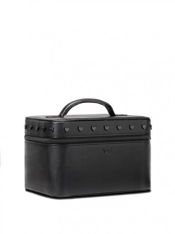 Černý kosmetický kufřík Pop Heart Runway Vanity Case